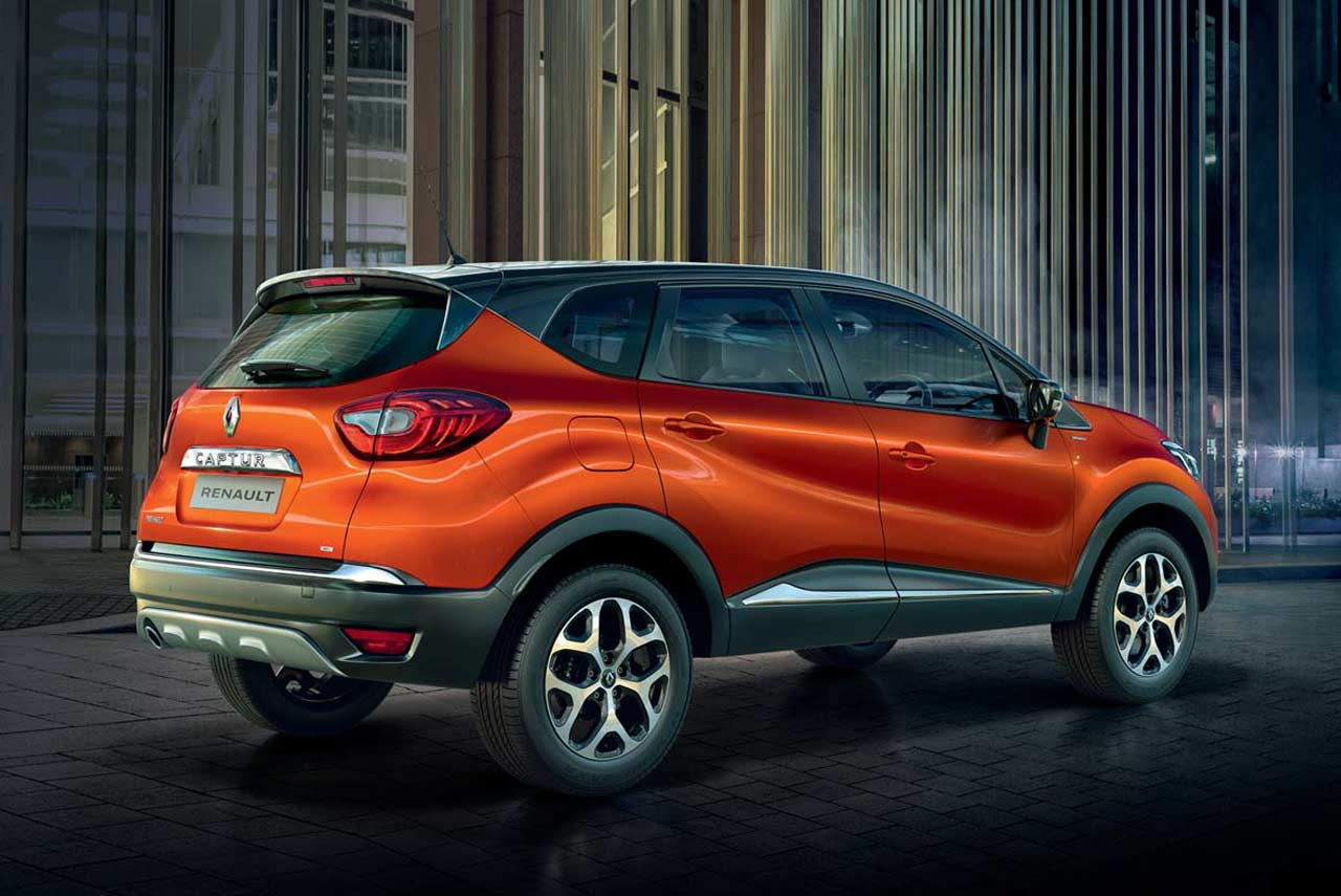 2017 renault captur cayenne orange body with mystery black roof rear quarter autobics. Black Bedroom Furniture Sets. Home Design Ideas