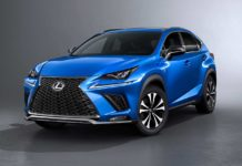 2018 lexus nx 300h fsport blue front quarter
