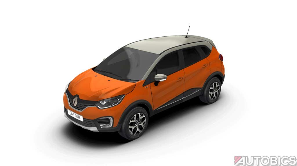 renault captur cayenne orange with marble ivory 2017 autobics. Black Bedroom Furniture Sets. Home Design Ideas
