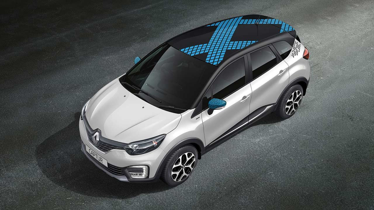Renault Captur Diamond Deck Pearl White Body With Mystery Black 2017 Autobics