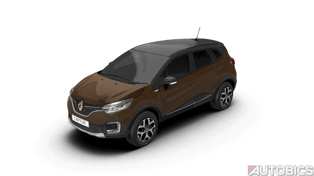 renault captur mahogany brown with planet grey 2017 autobics. Black Bedroom Furniture Sets. Home Design Ideas