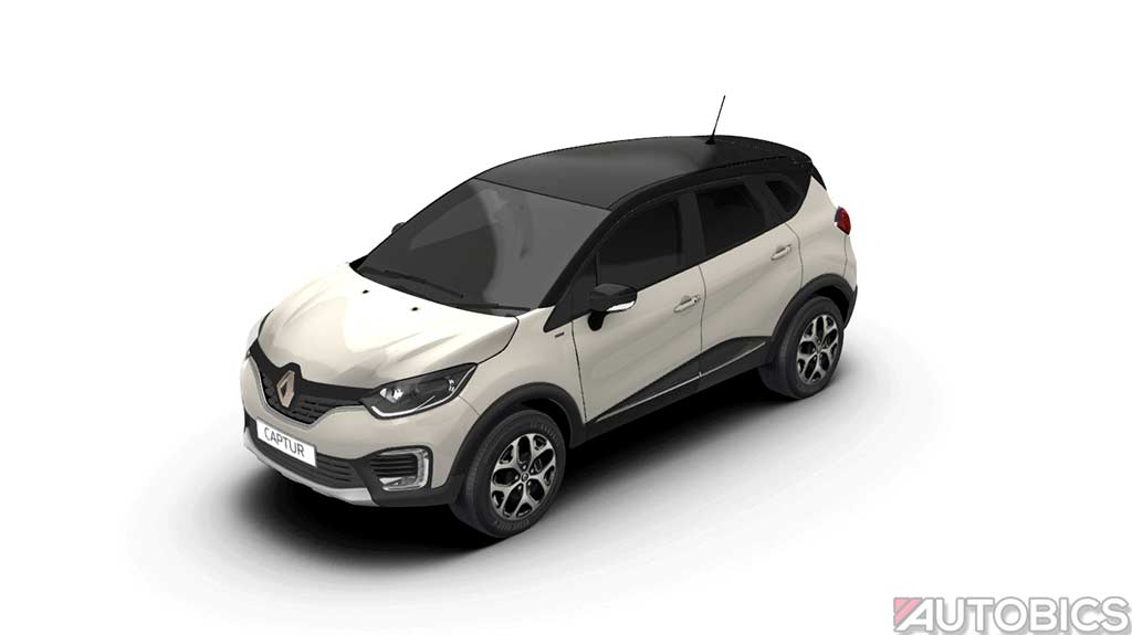 renault captur pearl white with mystery black 2017 autobics. Black Bedroom Furniture Sets. Home Design Ideas