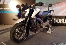 bajaj dominar 400 modified front left
