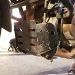 bajaj dominar 400 modified metal bash plate