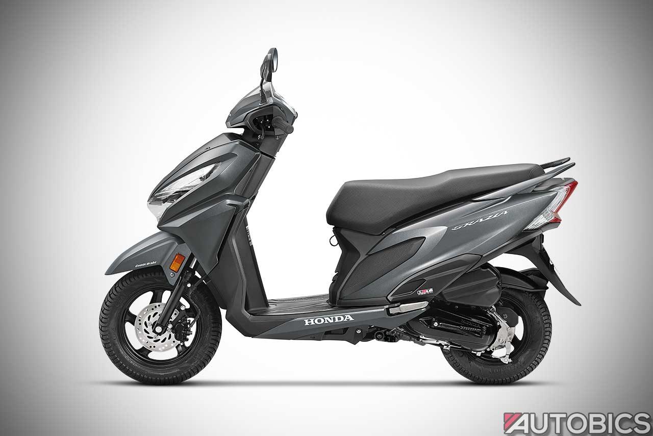 2017 Honda Grazia Scooter Matte Axis Grey Metallic Autobics