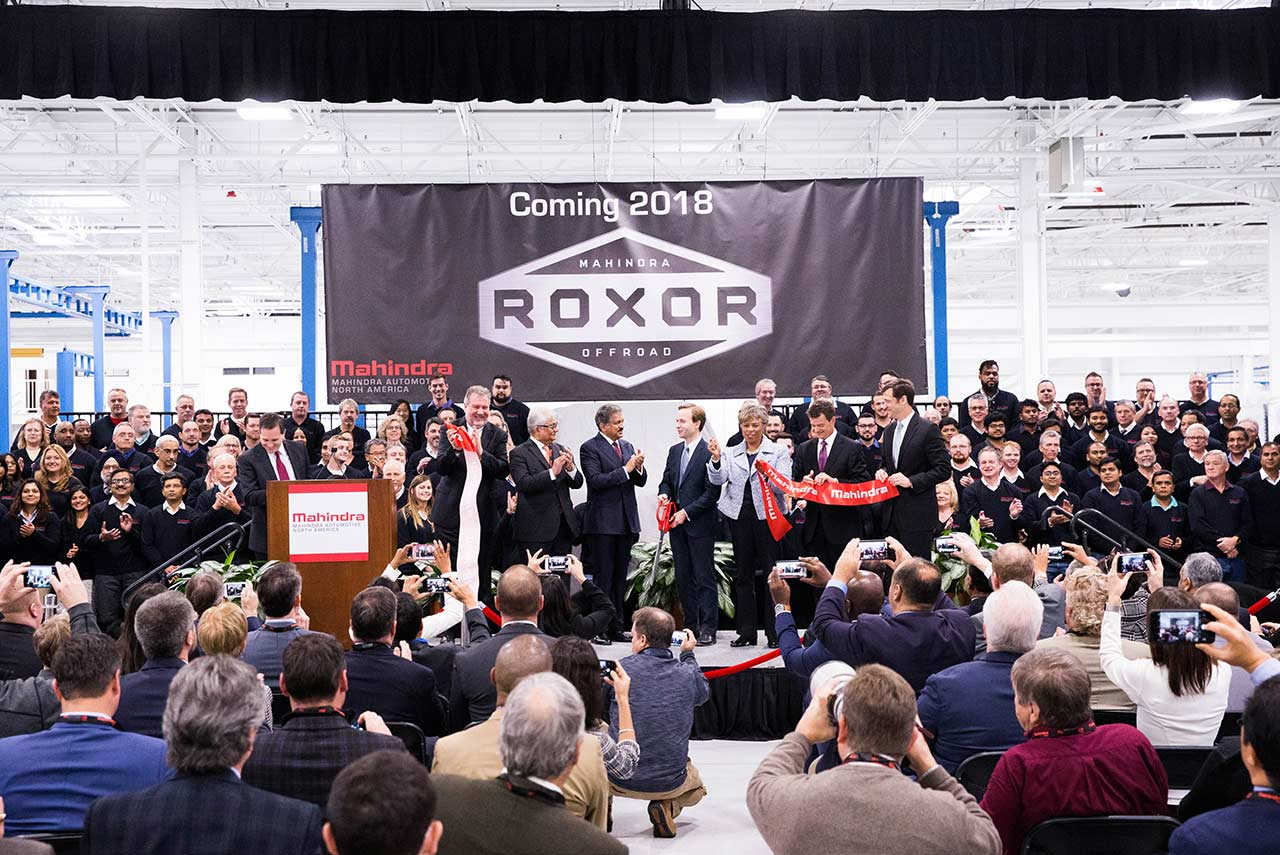 Mahindra Automotive North America Opens New HQ and Manufacturing Facility in Metro Detroit - Will Manufacture the ROXOR Offroad Vehicle here