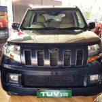 mahindra tuv 300 t10 bold black front 2017