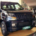 mahindra tuv 300 t10 bold black front quarter 2017