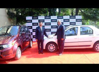 mahindra and with uber e2o plus and e-verto electric vehicles