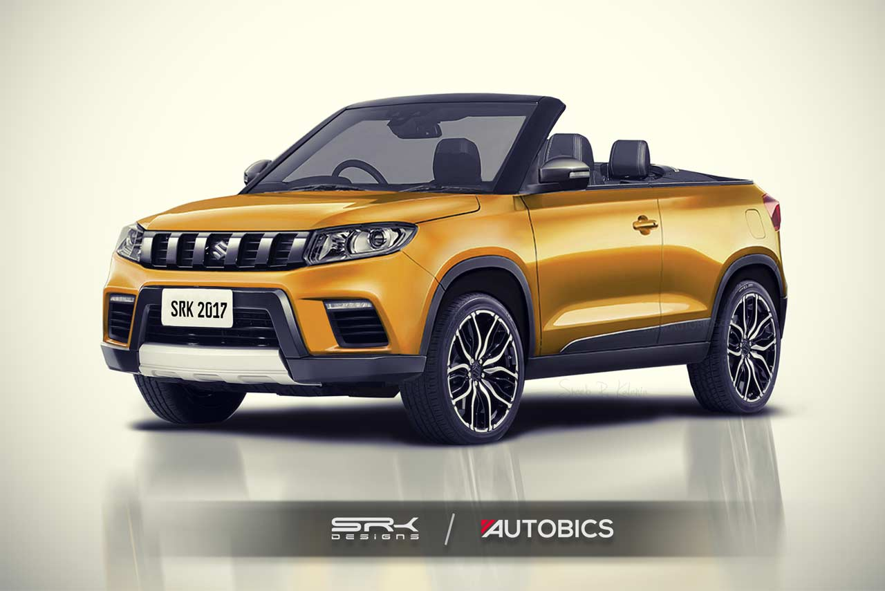 maruti suzuki vitara brezza modified into a convertible suv rendering autobics. Black Bedroom Furniture Sets. Home Design Ideas