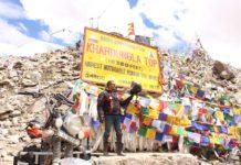 milestone trails khardungla