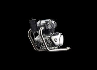 new royal enfield 650cc engine left side pr
