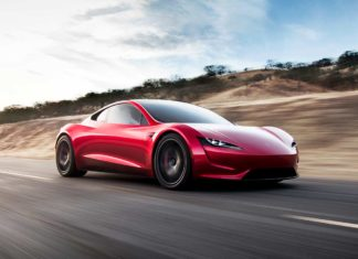 new tesla roadster red 2020