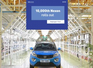 10,000th Tata Nexon rolls out from the Ranjangaon factory