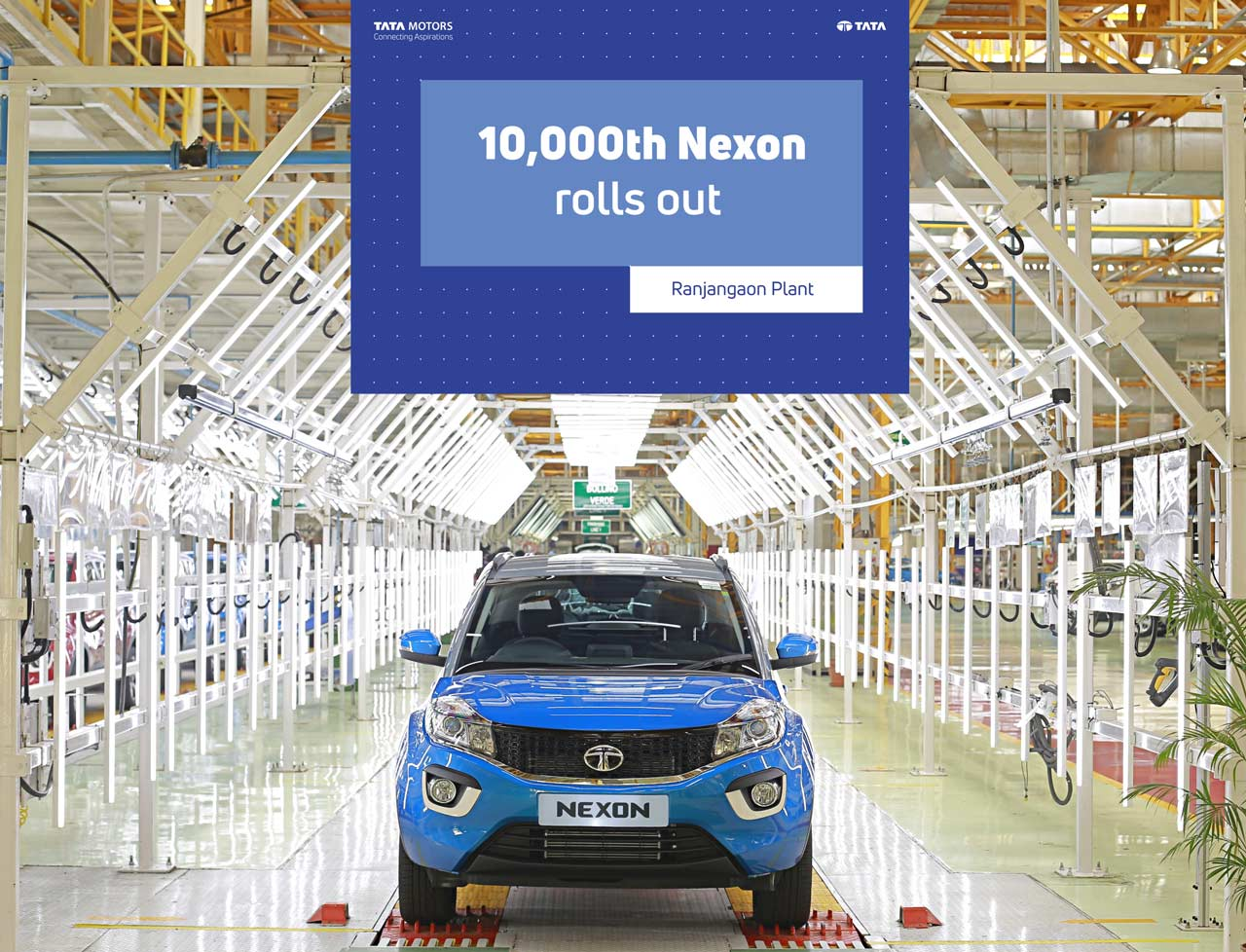 10,000th Tata Nexon rolls out from the Ranjangaon factory