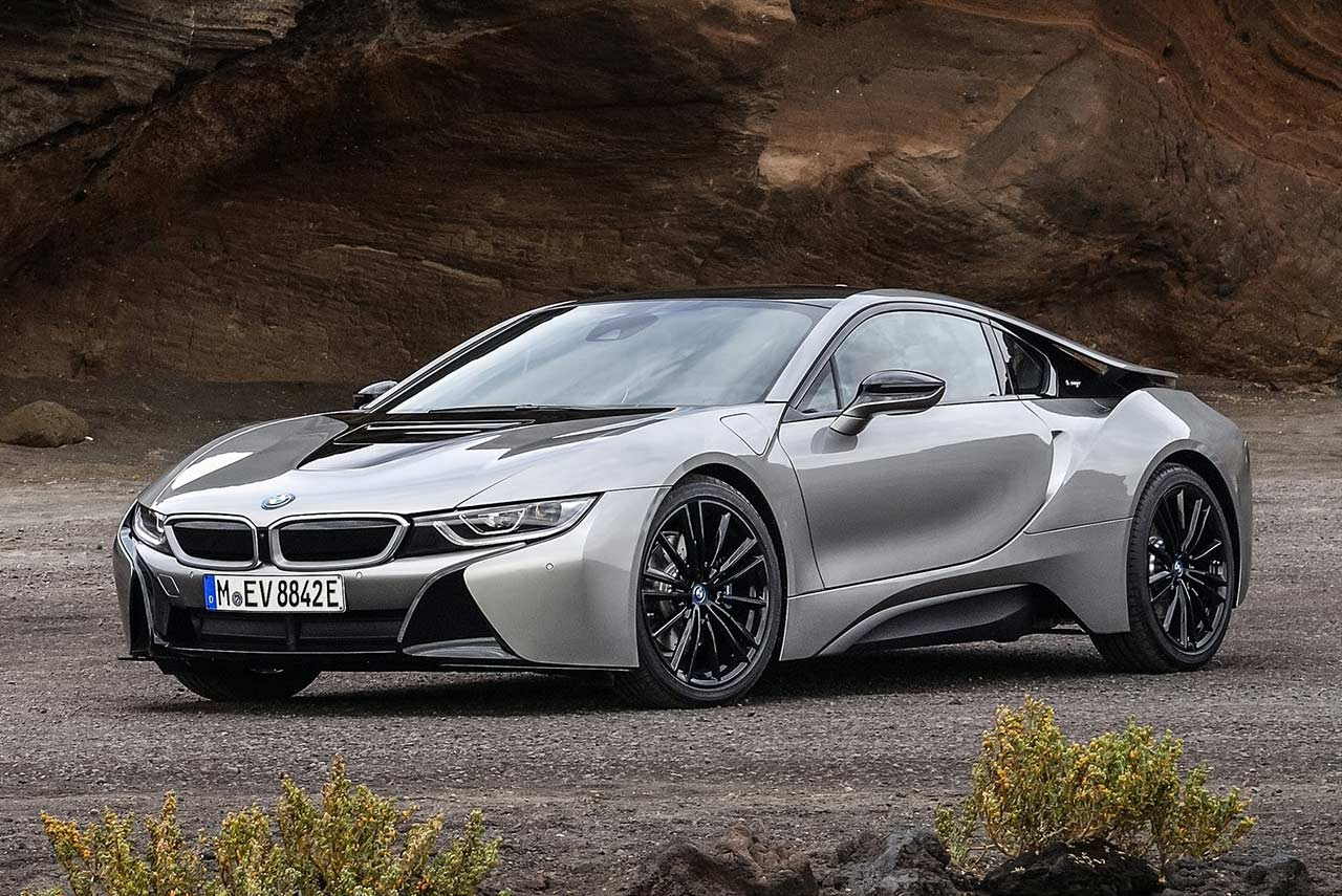 2018 Bmw I8 Coupe Donington Grey Metallic Front Quarter Autobics