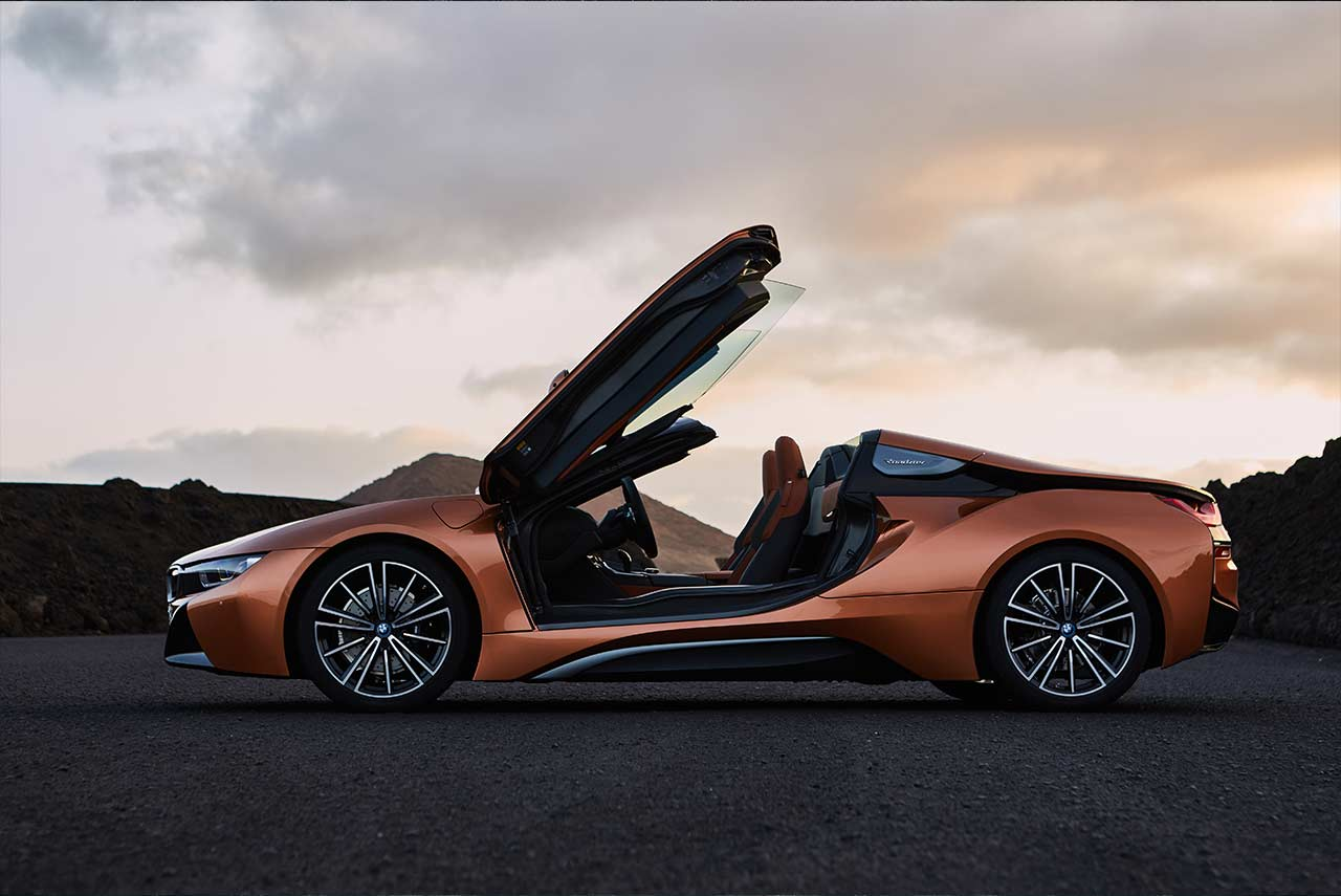 2018 Bmw I8 Roadster E Copper Metallic Doors Open Autobics