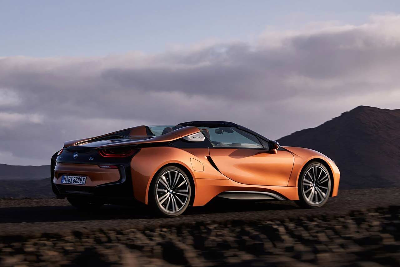 2018 Bmw I8 Roadster E Copper Metallic Rear Quarter Autobics