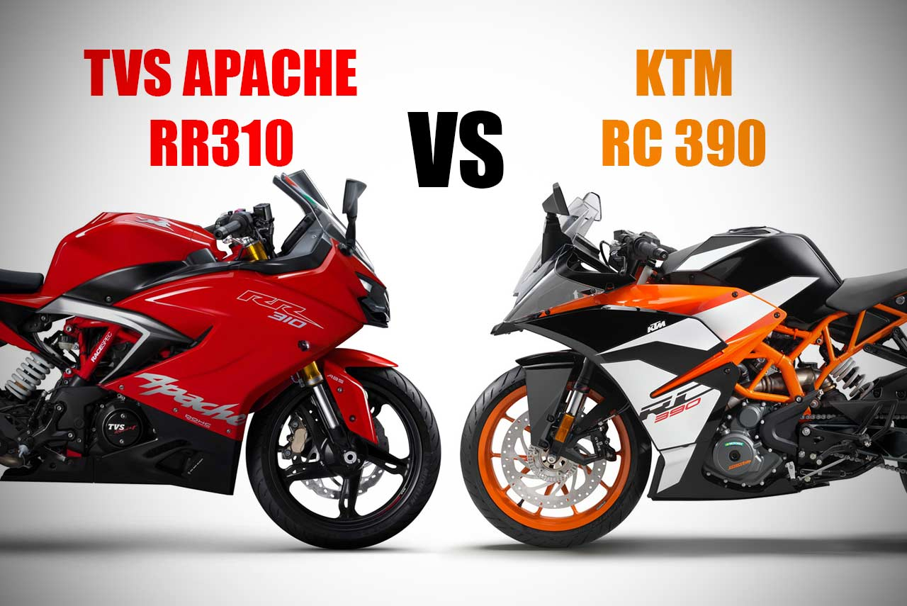 TVS Apache RR 310 vs KTM RC 390 – AUTOBICS