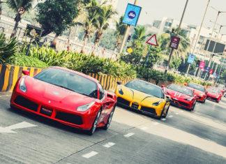 Ferrari 70th Anniversary Mumbai Parade 2017