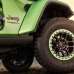 Green Jeep Wrangler Alloy Wheels 35-inch Tire 2018