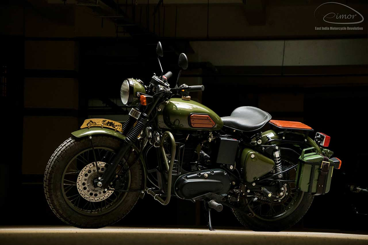 Johnnie Eimor Customs Royal Enfield Electra 2017 Front Left