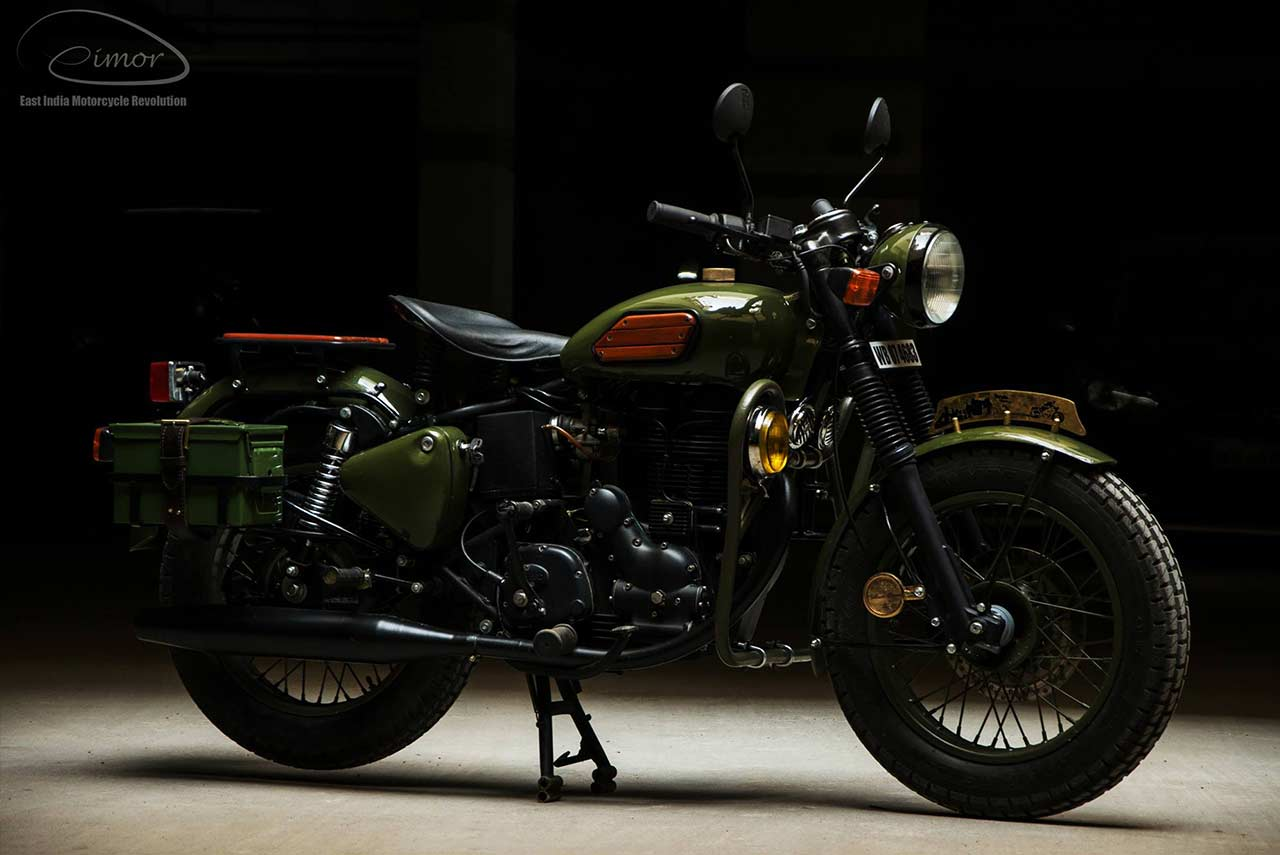 Johnnie Eimor Customs Royal Enfield Electra 2017 Front Right