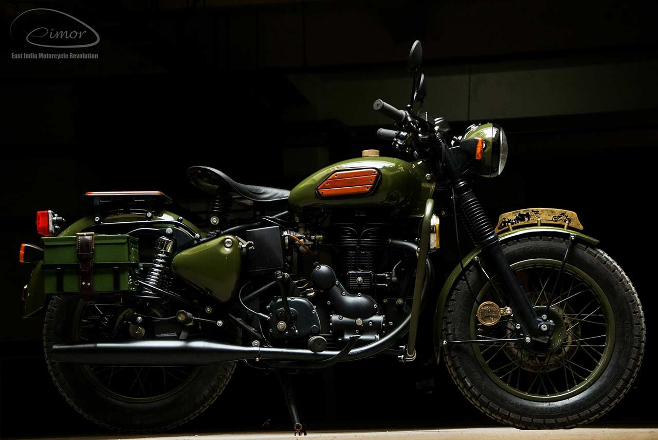 Johnnie Eimor Customs Royal Enfield Electra 2017 Right Side