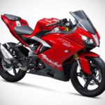 TVS Apache RR 310 Racing Red 2018 Front Quarter
