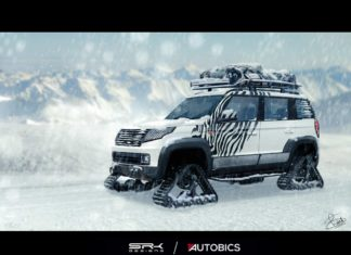 Snow Warrior - Mahindra TUV300 Modified with Snow Tracks