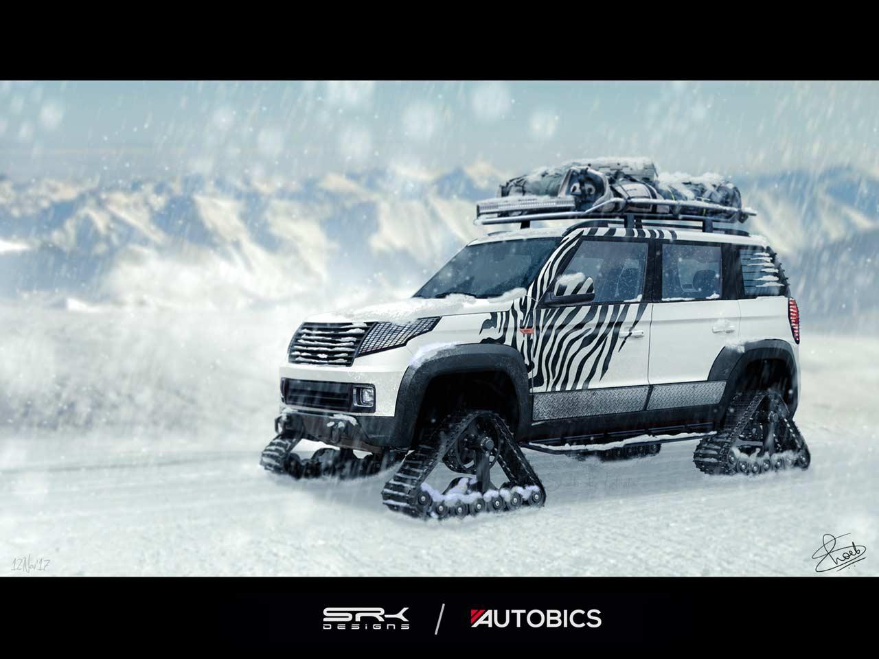 Snow Warrior - Mahindra TUV300 Modified with Snow Tracks