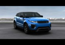 2018 Range Rover Landmark Edition Moraine Blue Premium Metallic Front Quarter