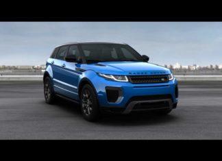 2018 Range Rover Landmark Edition Moraine Blue Premium Metallic Front Quarter