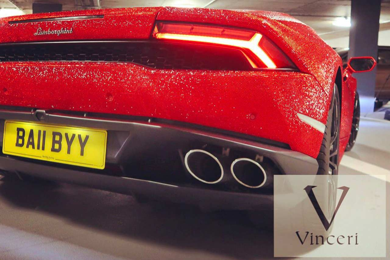 Ordinaire Lamborghini Huracan Covered In Red Swarovski Crystals By Vinceri UK