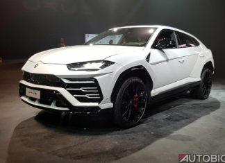 Lamborghini Urus 2019 Front Left White