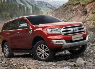 New Ford Endeavour Front Quarter