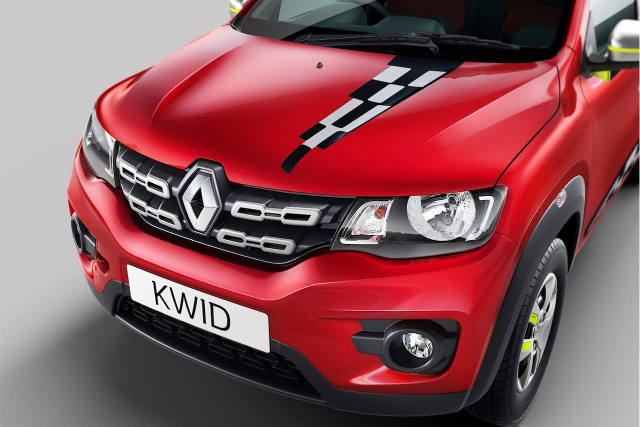 Renault Kwid Reloaded Special Edition Silver Steel Grille Inserts 2018