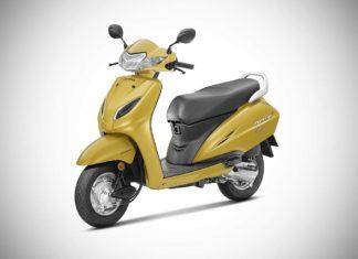 2018 Honda Activa 5G Dazzle Yellow Metallic