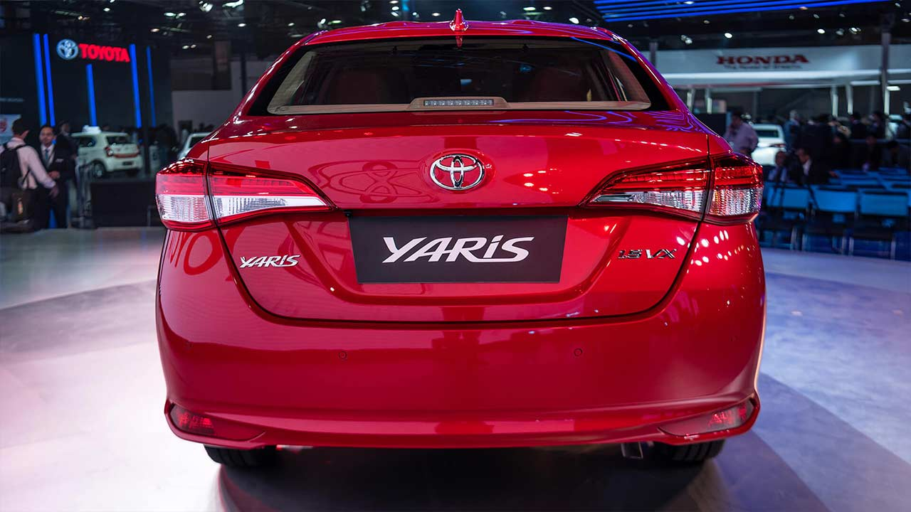 toyota yaris showcased at the auto expo 2018 autobics