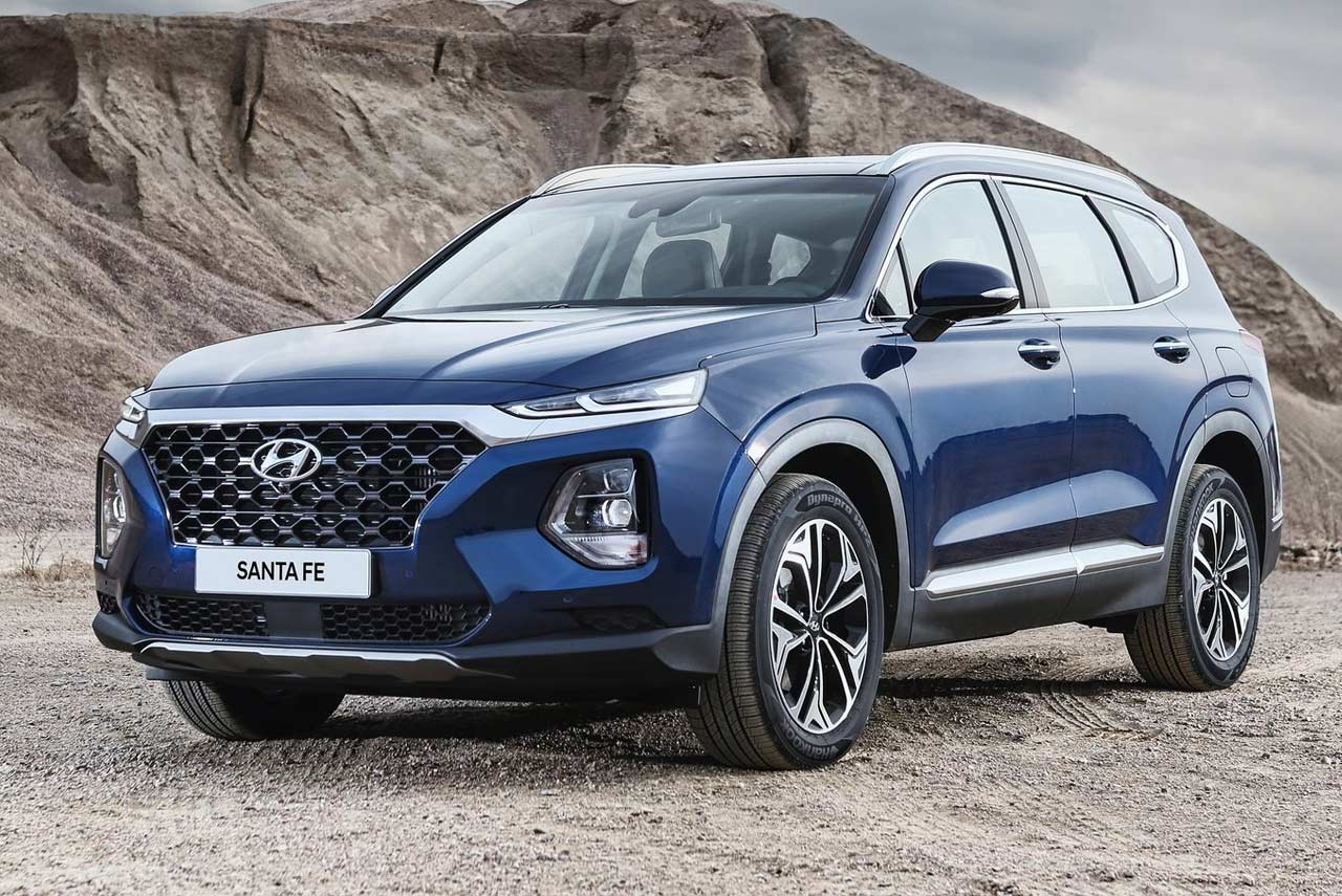the new 2019 hyundai santa fe has been unveiled autobics. Black Bedroom Furniture Sets. Home Design Ideas