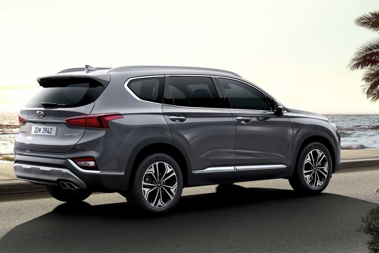 Jeep 3Rd Row >> 2019 Hyundai Santa Fe Grey Rear Quarter | AUTOBICS