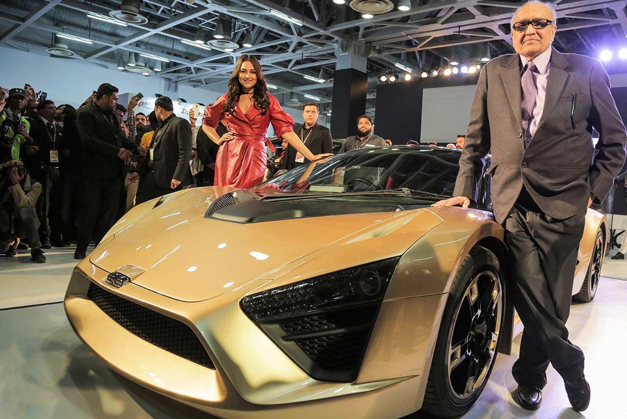 DC TCA Dilip Chabbria Sonakshi Sinha Auto Expo 2018