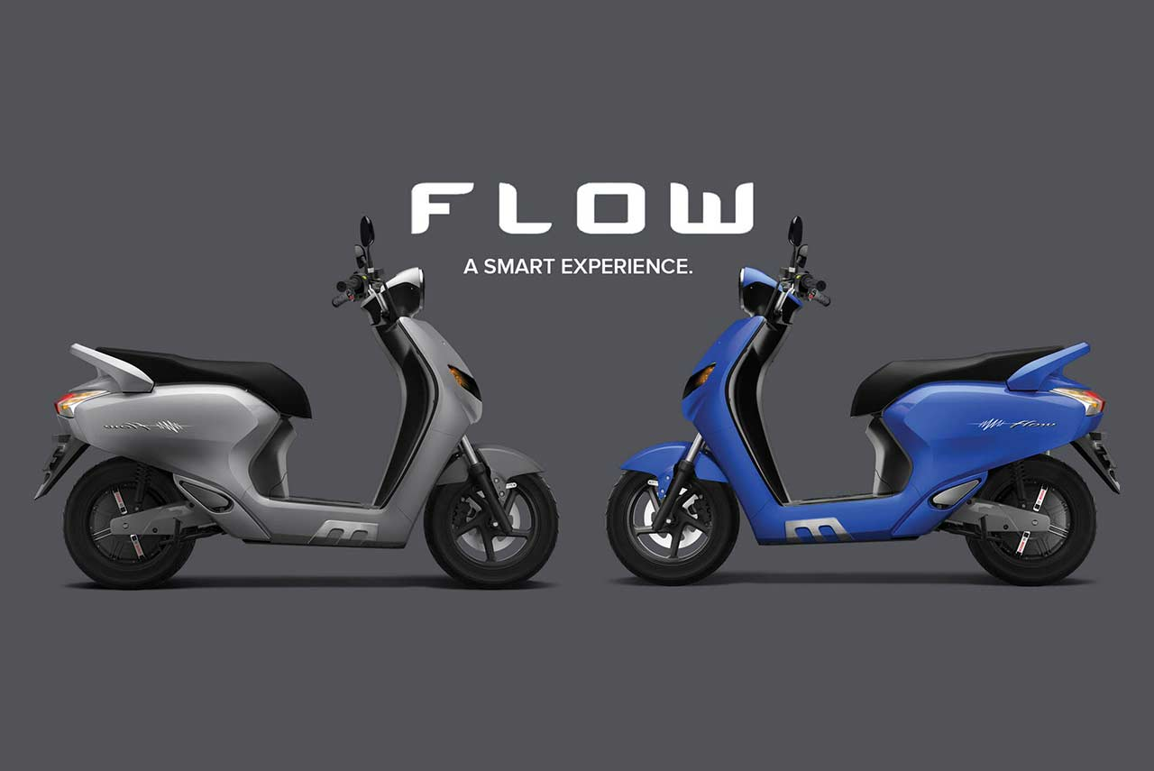 Flow Electric Scooter Blue and Silver 2018