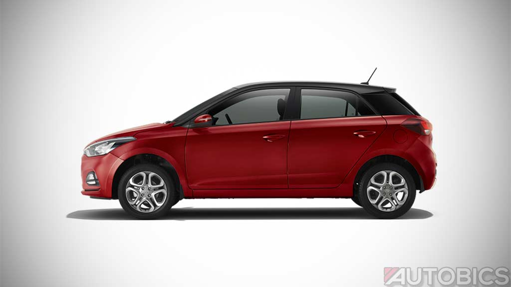 Hyundai I20 Fiery Red With Black Roof 2018 Autobics