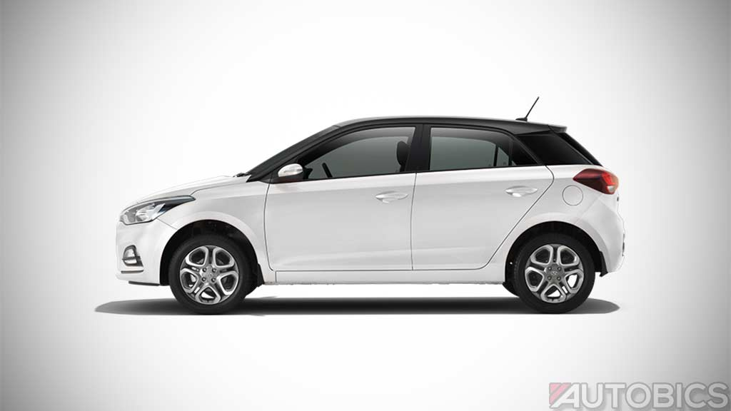 Hyundai I20 Polar White With Black Roof 2018