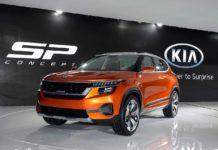 Kia SP Concept Auto Expo 2018 Front Left