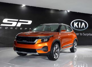 Kia SP Concept Auto Expo 2018 Front Left