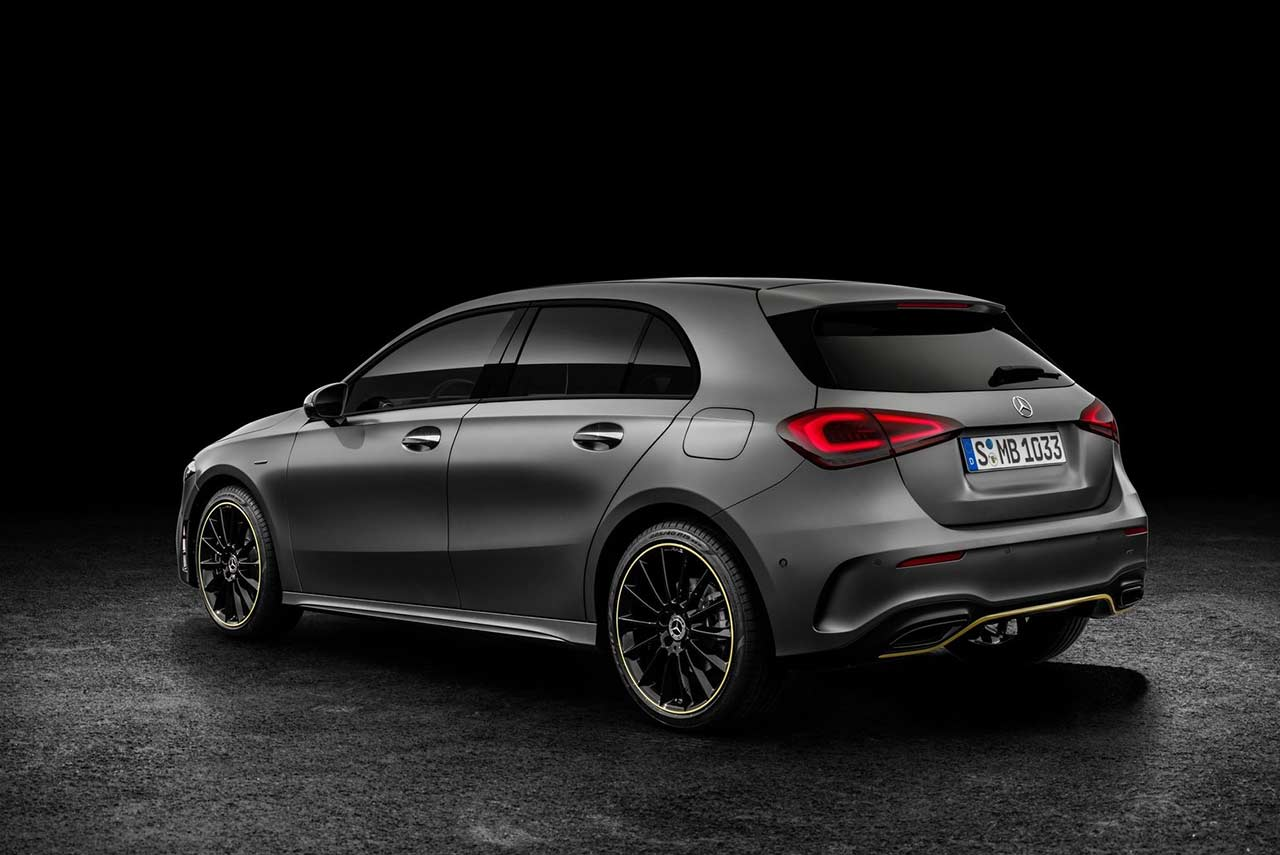 new mercedes benz a class edition 2019 rear left autobics. Black Bedroom Furniture Sets. Home Design Ideas