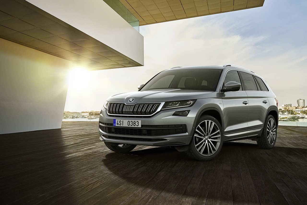 skoda kodiaq l k top of the line variant unveiled autobics. Black Bedroom Furniture Sets. Home Design Ideas