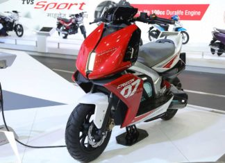TVS Creon Electric Scooter Concept Auto Expo 2018